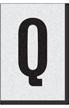 Engineer Grade Vinyl Numbers Letters Black on white Q