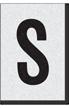 Engineer Grade Vinyl Numbers Letters Black on white S