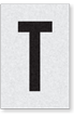 Engineer Grade Vinyl Numbers Letters Black on white T