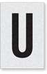 Engineer Grade Vinyl Numbers Letters Black on white U