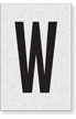 Engineer Grade Vinyl Numbers Letters Black on white W
