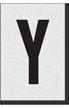 Engineer Grade Vinyl Numbers Letters Black on white Y