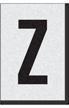 Engineer Grade Vinyl Numbers Letters Black on white Z