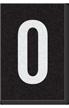 Engineer Grade Vinyl Numbers Letters White on black 0