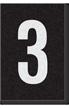 Engineer Grade Vinyl Numbers Letters White on black 3