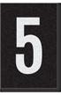 Engineer Grade Vinyl Numbers Letters White on black 5