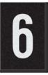 Engineer Grade Vinyl Numbers Letters White on black 6