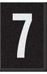 Engineer Grade Vinyl Numbers Letters White on black 7