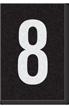 Engineer Grade Vinyl Numbers Letters White on black 8