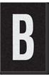 Engineer Grade Vinyl Numbers Letters White on black B