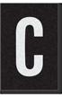 Engineer Grade Vinyl Numbers Letters White on black C