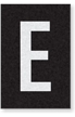 Engineer Grade Vinyl Numbers Letters White on black E