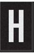 Engineer Grade Vinyl Numbers Letters White on black H
