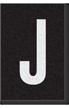 Engineer Grade Vinyl Numbers Letters White on black J