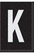 Engineer Grade Vinyl Numbers Letters White on black K
