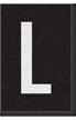 Engineer Grade Vinyl Numbers Letters White on black L