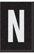 Engineer Grade Vinyl Numbers Letters White on black N