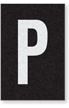 Engineer Grade Vinyl Numbers Letters White on black P