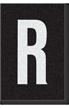 Engineer Grade Vinyl Numbers Letters White on black R