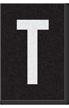 Engineer Grade Vinyl Numbers Letters White on black T