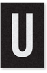Engineer Grade Vinyl Numbers Letters White on black U