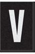 Engineer Grade Vinyl Numbers Letters White on black V