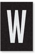 Engineer Grade Vinyl Numbers Letters White on black W