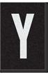 Engineer Grade Vinyl Numbers Letters White on black Y