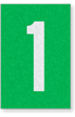 Engineer Grade Vinyl Numbers Letters White on green 1