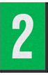 Engineer Grade Vinyl Numbers Letters White on green 2