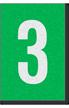 Engineer Grade Vinyl Numbers Letters White on green 3