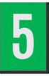 Engineer Grade Vinyl Numbers Letters White on green 5
