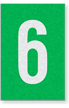 Engineer Grade Vinyl Numbers Letters White on green 6