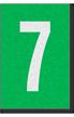 Engineer Grade Vinyl Numbers Letters White on green 7