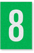 Engineer Grade Vinyl Numbers Letters White on green 8