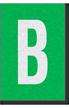 Engineer Grade Vinyl Numbers Letters White on green B