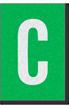 Engineer Grade Vinyl Numbers Letters White on green C