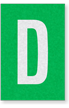 Engineer Grade Vinyl Numbers Letters White on green D
