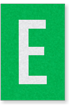 Engineer Grade Vinyl Numbers Letters White on green E