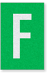 Engineer Grade Vinyl Numbers Letters White on green F