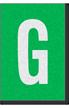 Engineer Grade Vinyl Numbers Letters White on green G
