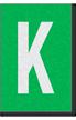 Engineer Grade Vinyl Numbers Letters White on green K