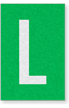 Engineer Grade Vinyl Numbers Letters White on green L