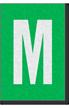 Engineer Grade Vinyl Numbers Letters White on green M