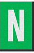 Engineer Grade Vinyl Numbers Letters White on green N