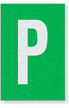 Engineer Grade Vinyl Numbers Letters White on green P