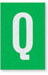 Engineer Grade Vinyl Numbers Letters White on green Q