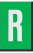 Engineer Grade Vinyl Numbers Letters White on green R