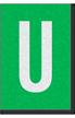 Engineer Grade Vinyl Numbers Letters White on green U
