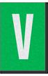 Engineer Grade Vinyl Numbers Letters White on green V